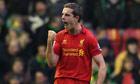 Liverpool midfielder Jordan Henderson celebrates