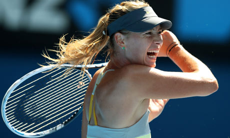 Maria Sharapova in action on her way to the last eight in Melbourne