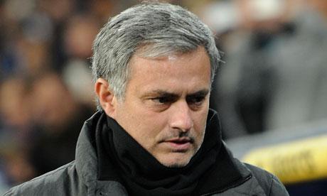 José Mourinho looking glum