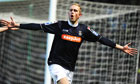 Luton Town's Scott Rendall celebrates