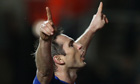 Frank Lampard celebrates scoring Chelsea's fifth goal in the 5-1 FA Cup win over Southampton
