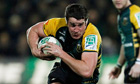 Calum Clark in action for Northampton