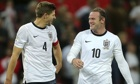 EEngland veterans Steven Gerrard (left) and Wayne Rooney put their team on the road to Rio.