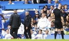 José Mourinho is sent off by referee Anthony Taylor during Chelsea's 4-1 win over Cardiff City.