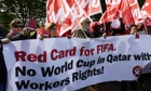 Protest outside Fifa headquarters
