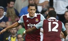 Ravel Morrison celebrates after scoring West Ham's third goal in their 3-