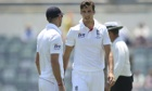 Steven Finn, right, may struggle to force his way into England's team for the first Test in Brisbane