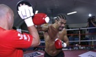 David Haye preparing to face Tyson Fury with trainer Adam Booth