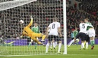 Joe Hart saves impressively from Per Mertesacker moments before the German gave his team the lead.