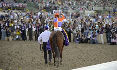Beholder and Gary Stevens at the Breeders' Cup