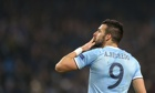 Alvaro Negredo celebrates after scoring a hat-trick in Manchester City's victory over CSKA Moscow