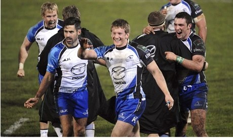 Connachts players celebrate