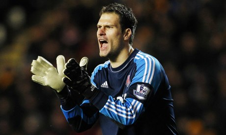 Stoke's goalkeeper Asmir Begovic a series of fine saves against Hull.