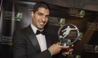 Luis Suarez with his player of the year award