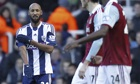 West Bromwich Albion's French striker Ni