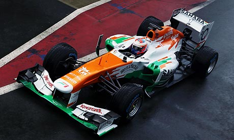 Equipe Force India de Formula 1 de 2013 by guardian.co.uk