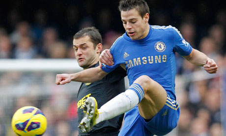 Csar Azpilicueta and Shaun Maloney, Chelsea v Wigan