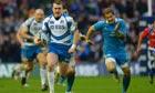Stuart Hogg breaks away to score a try for Scotland v Italy