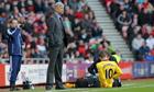 Jack Wilshere receives treatment Sunderland v Arsenal - Barclays Premier League