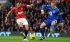 Ryan Giggs scores the first goal, Manchester United v Everton