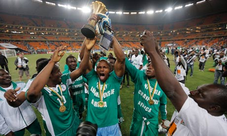 Nigeria celebrate winning Africa Cup of Nations 2013