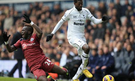 Emmanuel Adebayor, Tottenham, and Cheik Tioté, Newcastle United