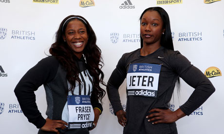 Shelly-Ann Fraser-Pryce and Carmelita Jeter