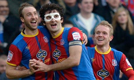 Crystal Palace's Glenn Murray (left) celebrates scoring against Middlesbrough.