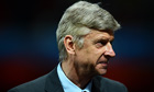 A grim-faced Arsène Wenger watches on as his team captitulate at the hands of Bayern Munich.