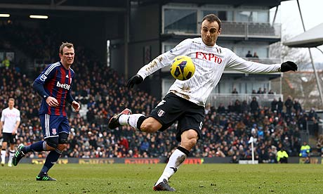 Dimitar Berbatov Fulham v Stoke City - Premier League