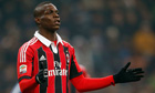 Mario Balotelli was the victim of racial abuse during the Milan derby, but was also fined