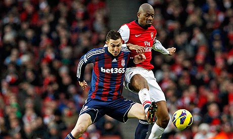 Abou Diaby Arsenal FC vs Stoke City