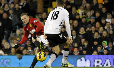Wayne Rooney scores for Manchester United v Fulham