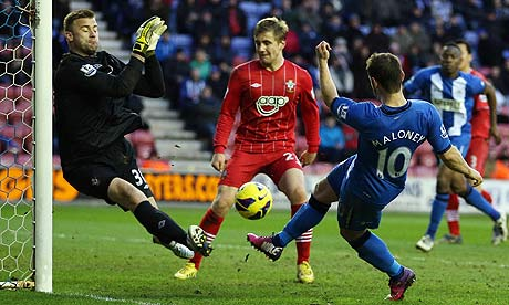 Shaun Maloney Wigan Athletic v Southampton - DW Stadium