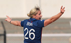 England's Katherine Brunt at the Women's World Cup