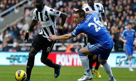 John Terry and Papiss Demba Cissé, Newcastle United v Chelsea