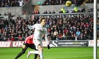 Swansea City's Michu scores