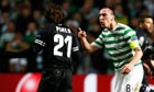 Celtic captain Scott Brown squares up to Andrea Pirol
