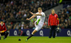The fly-half Owen Farrell has resumed kicking and is expected to return for England against Wales