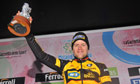 The German Gerald Ciolek won a three-man tussle to gain victory in the weather-hit Milan-San Remo