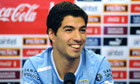 Luis Suarez during a press conference in Montevideo