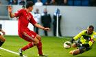 Mario Gomez of Bayern Munich Heurelho Gomes