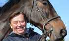 Nicky Henderson at his yard near Lambourn with Sprinter Sacre