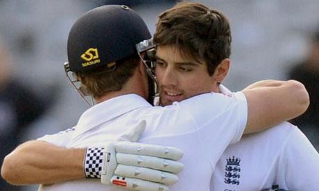 England's Nick Compton and Alastair Cook