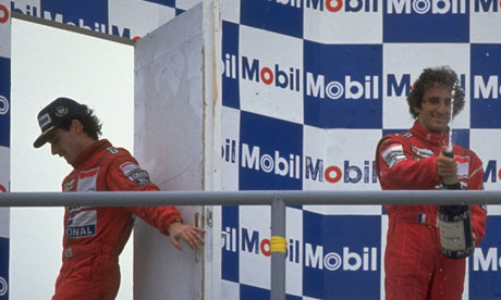 Ayrton Senna and Alain Prost in 1989. Senna would have the final say at Suzuka a year later