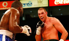 Tyson Fury in action against Kevin Johnson