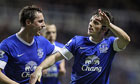 Phil Jagielka, left, and Leighton Baines have been key to Everton's impressive form this season