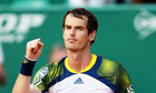 Andy Murray celebrates victory against Edouard Roger-Vasselin of France at the Monte Carlo Masters