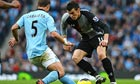 Gareth Bale goes up against Pablo Zabaleta during Tottenham's defeat at Manchester City lat November