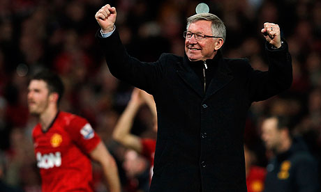 Sir Alex Ferguson Manchester United' Aston Villa